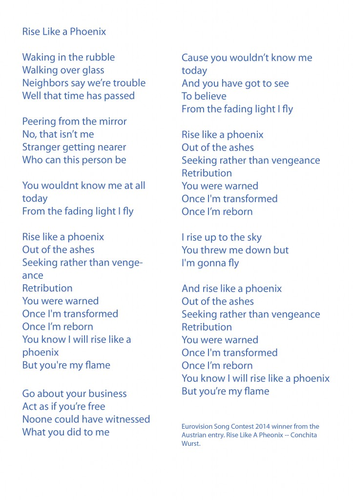 Rise like a pheonix lyrics