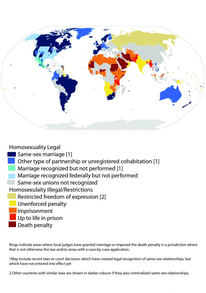 homosexuality around the world 2014